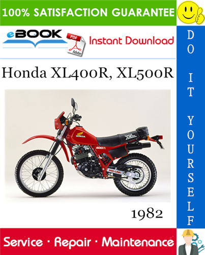 Thumbnail ☆☆ Best ☆☆ 1982 Honda XL400R, XL500R Motorcycle Service Repair Manual