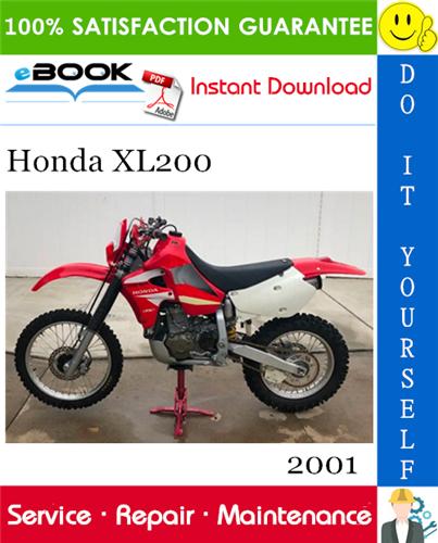 Thumbnail ☆☆ Best ☆☆ 2001 Honda XL200 Motorcycle Service Repair Manual