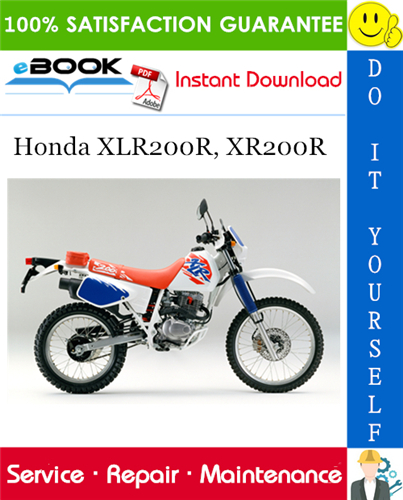 Thumbnail ☆☆ Best ☆☆ Honda XLR200R, XR200R Motorcycle Service Repair Manual