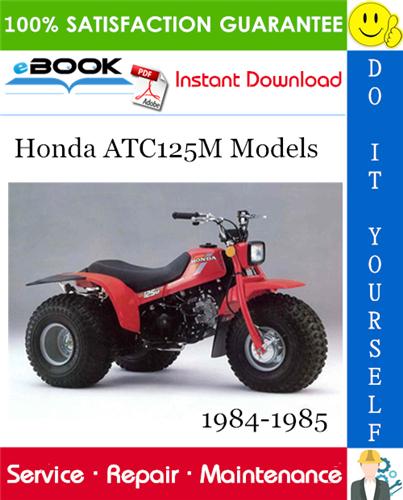 Thumbnail ☆☆ Best ☆☆ Honda ATC125M Models ATV Service Repair Manual 1984-1985 Download