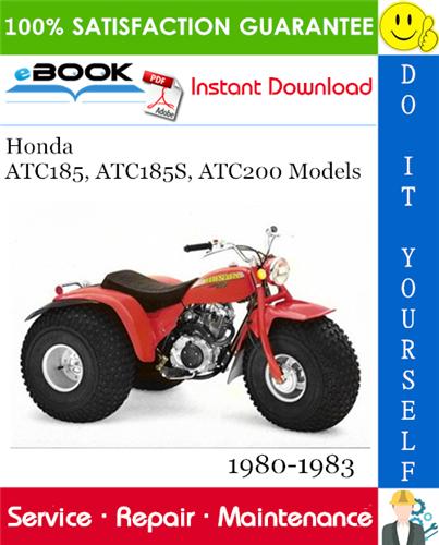 Thumbnail ☆☆ Best ☆☆ Honda ATC185, ATC185S, ATC200 Models ATV Service Repair Manual 1980-1983 Download