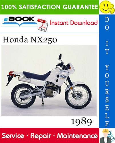 Thumbnail ☆☆ Best ☆☆ 1989 Honda NX250 Motorcycle Service Repair Manual