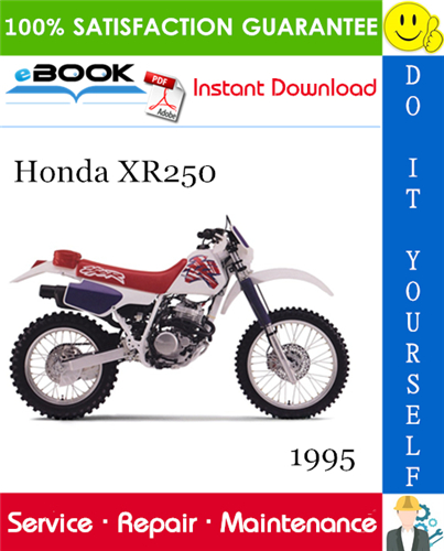 Thumbnail ☆☆ Best ☆☆ 1995 Honda XR250 Motorcycle Service Repair Manual