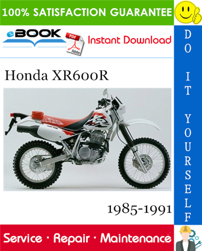Thumbnail ☆☆ Best ☆☆ Honda XR600R Motorcycle Service Repair Manual 1985-1991 Download
