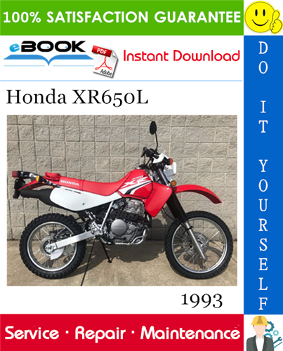 Thumbnail ☆☆ Best ☆☆ 1993 Honda XR650L Motorcycle Service Repair Manual