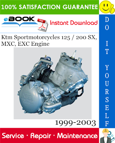 Thumbnail ☆☆ Best ☆☆ Ktm Sportmotorcycles 125 / 200 SX, MXC, EXC Engine Service Repair Manual 1999-2003 Download