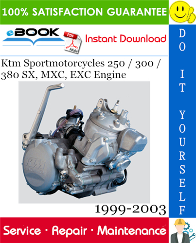 Thumbnail ☆☆ Best ☆☆ Ktm Sportmotorcycles 250 / 300 / 380 SX, MXC, EXC Engine Service Repair Manual 1999-2003 Download