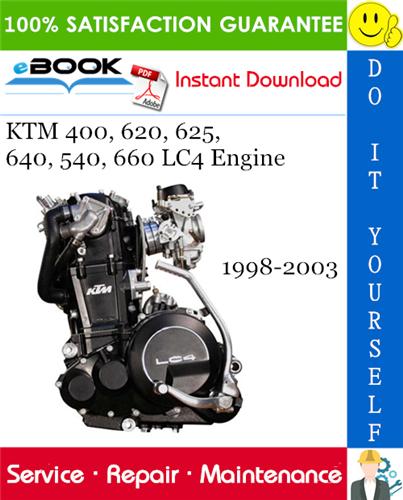 Thumbnail ☆☆ Best ☆☆ KTM 400, 620, 625, 640, 540, 660 LC4 Engine Service Repair Manual 1998-2003 Download