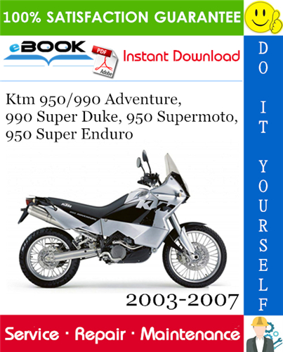 Thumbnail ☆☆ Best ☆☆ Ktm 950/990 Adventure, 990 Super Duke, 950 Supermoto, 950 Super Enduro Motorcycle Service Repair Manual 2003-2007 Download