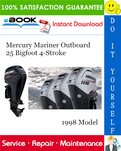 Thumbnail ☆☆ Best ☆☆ Mercury Mariner Outboard 25 Bigfoot 4-Stroke 1998 Model Service Repair Manual