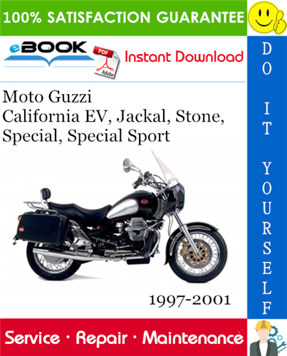 Thumbnail Moto Guzzi California EV, Jackal, Stone, Special, Special Sport Motorcycle Service Repair Manual 1997-2001 Download