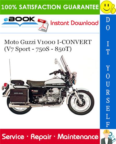 Thumbnail ☆☆ Best ☆☆ Moto Guzzi V1000 I-CONVERT (V7 Sport - 750S - 850T) Motorcycle Service Repair Manual