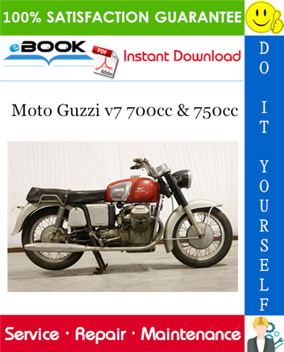 Thumbnail ☆☆ Best ☆☆ Moto Guzzi v7 700cc & 750cc Motorcycle Service Repair Manual