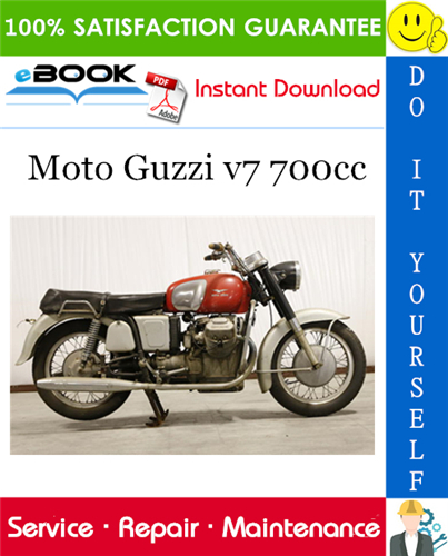 Thumbnail ☆☆ Best ☆☆ Moto Guzzi v7 700cc Motorcycle Service Repair Manual