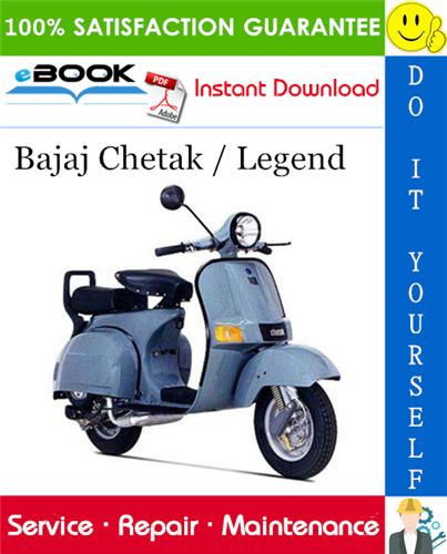 Thumbnail ☆☆ Best ☆☆ Bajaj Chetak / Legend Scooter Service Repair Manual