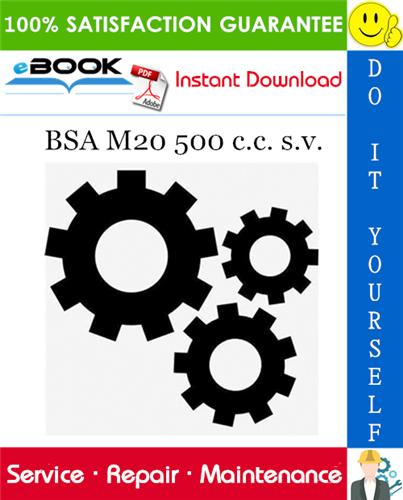 Thumbnail ☆☆ Best ☆☆ BSA M20 500 c.c. s.v. Service Repair Manual