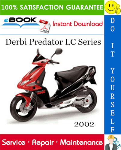Thumbnail ☆☆ Best ☆☆ 2002 Derbi Predator LC Series Scooter Service Repair Manual