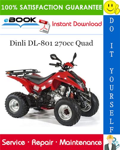 Thumbnail ☆☆ Best ☆☆ Dinli DL-801 270cc Quad ATV Service Repair Manual