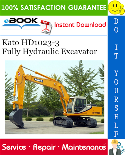 Thumbnail Kato HD1023-3 Fully Hydraulic Excavator Service Repair Manual