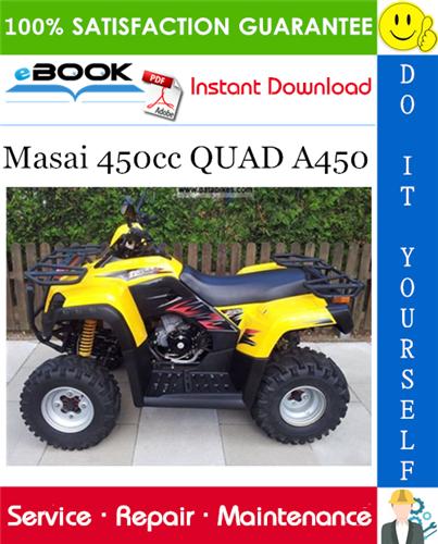 Thumbnail ☆☆ Best ☆☆ Masai 450cc QUAD A450 ATV Service Repair Manual