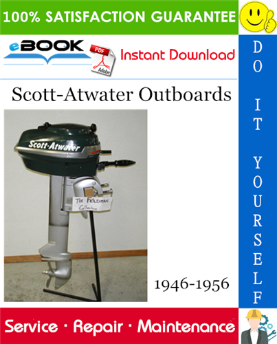 Thumbnail Scott-Atwater Outboards Service Repair Manual 1946-1956 Download