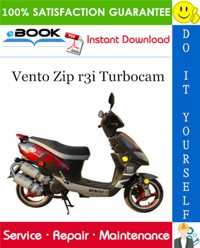 Thumbnail ☆☆ Best ☆☆ Vento Zip r3i Turbocam Scooter Service Repair Manual