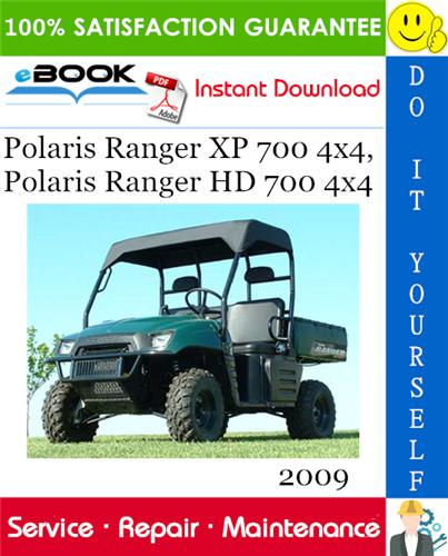 Thumbnail ☆☆ Best ☆☆ 2009 Polaris Ranger XP 700 4x4, Polaris Ranger HD 700 4x4 UTV Service Repair Manual