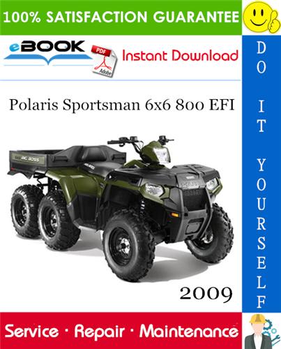 Thumbnail 2009 Polaris Sportsman 6x6 800 EFI ATV Service Repair Manual