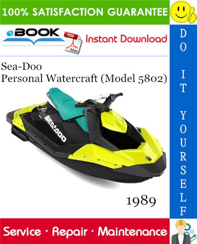 Thumbnail ☆☆ Best ☆☆ 1989 Sea-Doo Personal Watercraft (Model 5802) Service Repair Manual