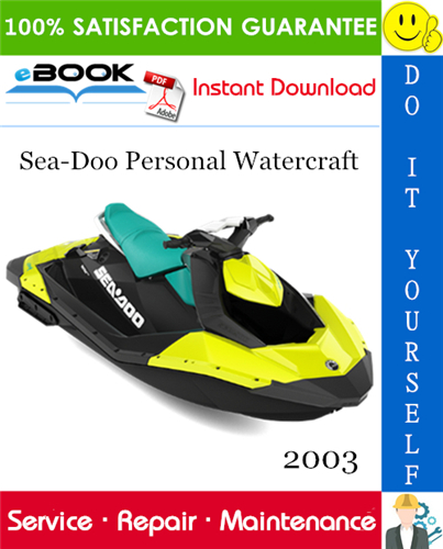Thumbnail ☆☆ Best ☆☆ 2003 Sea-Doo Personal Watercraft Service Repair Manual