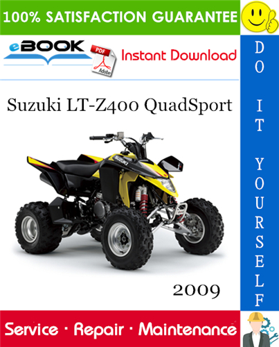 Thumbnail ☆☆ Best ☆☆ 2009 Suzuki LT-Z400 QuadSport ATV Service Repair Manual