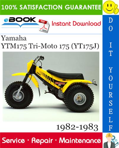 Thumbnail ☆☆ Best ☆☆ Yamaha YTM175 Tri-Moto 175 (YT175J) ATV Service Repair Manual 1982-1983 Download