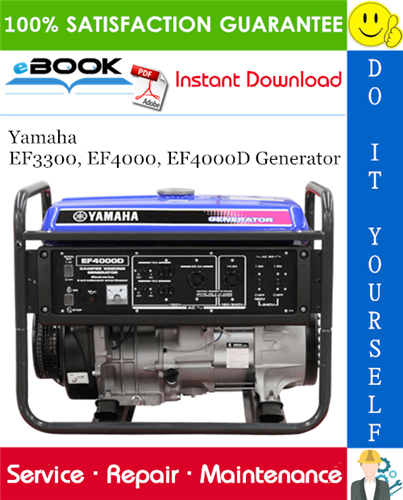 Thumbnail ☆☆ Best ☆☆ Yamaha EF3300, EF4000, EF4000D Generator Service Repair Manual