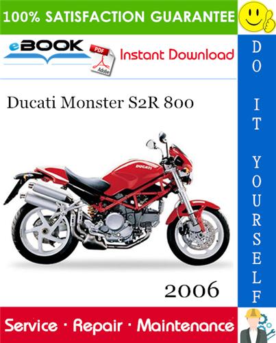 Thumbnail ☆☆ Best ☆☆ 2006 Ducati Monster S2R 800 Motorcycle Service Repair Manual