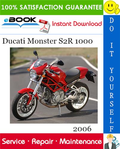 Thumbnail ☆☆ Best ☆☆ 2006 Ducati Monster S2R 1000 Motorcycle Service Repair Manual