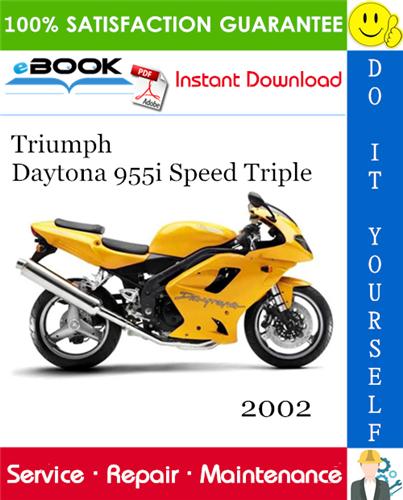 Thumbnail ☆☆ Best ☆☆ 2002 Triumph Daytona 955i Speed Triple Motorcycle Service Repair Manual