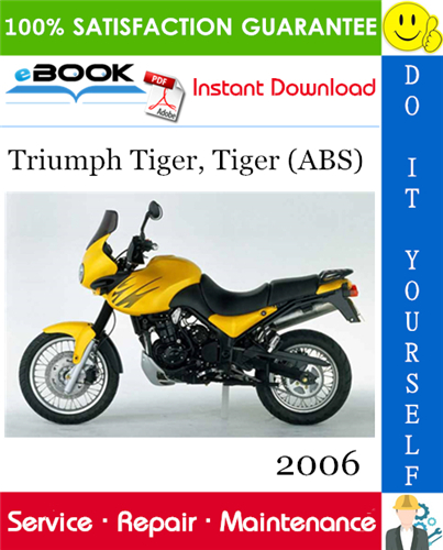 Thumbnail ☆☆ Best ☆☆ 2006 Triumph Tiger, Tiger (ABS) Motorcycle Service Repair Manual