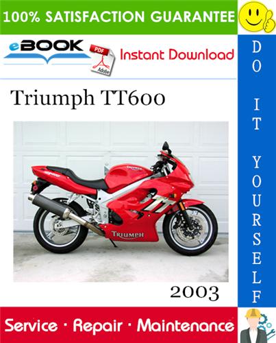 Thumbnail ☆☆ Best ☆☆ 2003 Triumph TT600 Motorcycle Service Repair Manual
