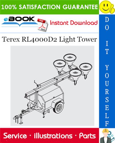Thumbnail ☆☆ Best ☆☆ Terex RL4000D2 Light Tower Parts Manual