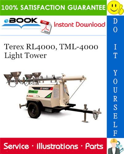 Thumbnail ☆☆ Best ☆☆ Terex RL4000, TML-4000 Light Tower Parts Manual