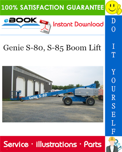 Thumbnail ☆☆ Best ☆☆ Genie S-80, S-85 Boom Lift Parts Manual (Serial Number Range: from SN 966 to 3081)