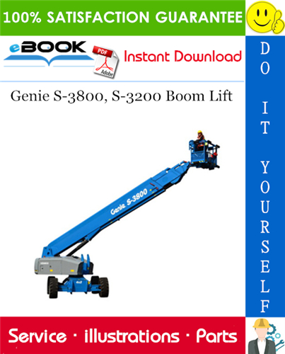 Thumbnail ☆☆ Best ☆☆ Genie S-3800, S-3200 Boom Lift Parts Manual (Serial Number Range: from SN 101)