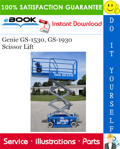 Thumbnail ☆☆ Best ☆☆ Genie GS-1530, GS-1930 Scissor Lift Parts Manual (Serial Number Range: to SN 59999)