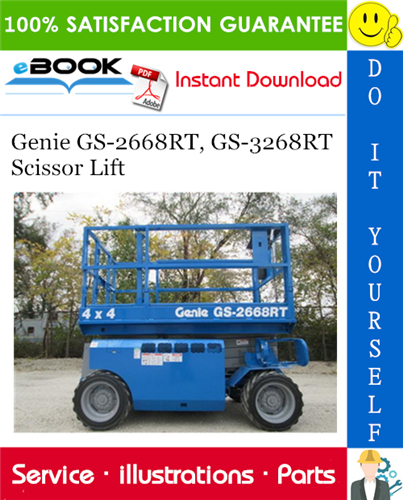 Thumbnail ☆☆ Best ☆☆ Genie GS-2668RT, GS-3268RT Scissor Lift Parts Manual (Serial Number Range: from SN GS68-41200)