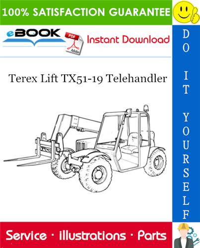 Thumbnail ☆☆ Best ☆☆ Terex Lift TX51-19 Telehandler Parts Manual
