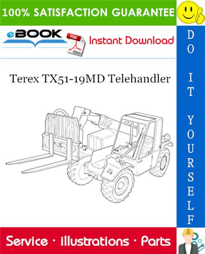Thumbnail ☆☆ Best ☆☆ Terex TX51-19MD Telehandler Parts Manual (From serial No. 657769)