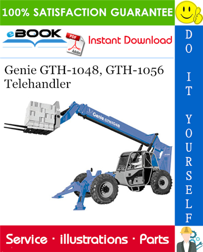 Thumbnail ☆☆ Best ☆☆ Genie GTH-1048, GTH-1056 Telehandler Parts Manual (Serial Number Range: from GTH1006A-8418)