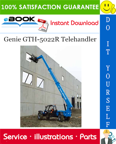 Thumbnail ☆☆ Best ☆☆ Genie GTH-5022R Telehandler Parts Manual (Serial Number Range: from SN 16758)