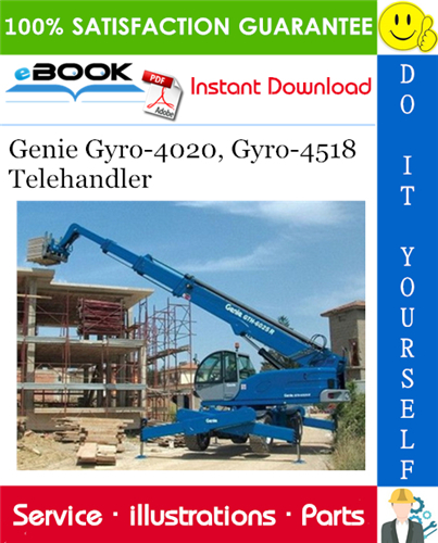Thumbnail ☆☆ Best ☆☆ Genie Gyro-4020, Gyro-4518 Telehandler Parts Manual (Serial Number Range: Gyro-4020 from SN 12888 to 18910; Gyro-4518 from SN 12508 to 19125)