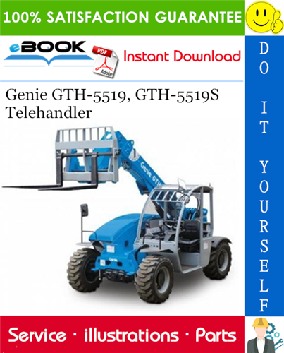 Thumbnail ☆☆ Best ☆☆ Genie GTH-5519, GTH-5519S Telehandler Parts Manual (Serial Number Range: from SN 20368)
